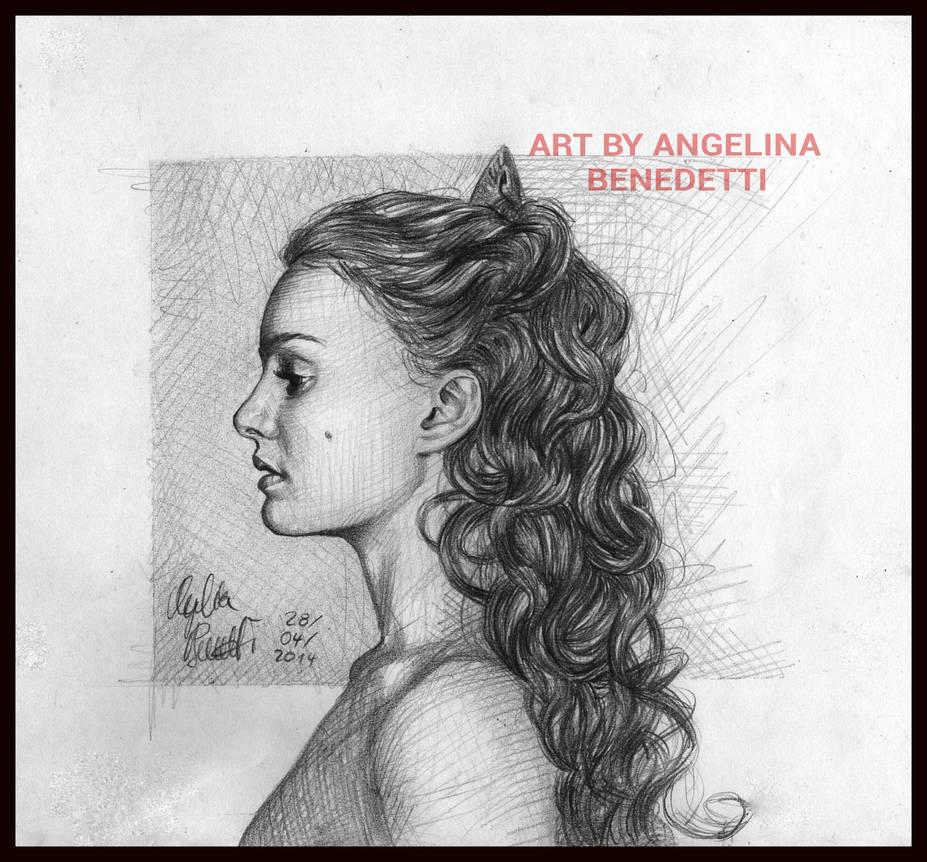 Amidala Graphite Portrait