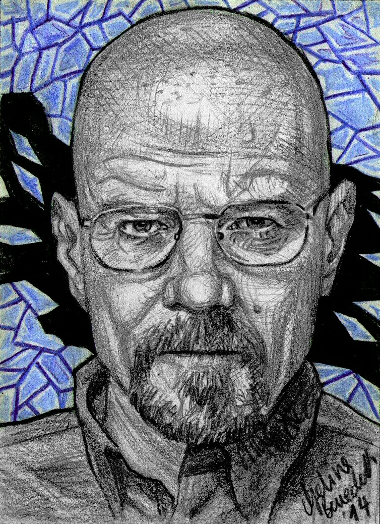 Walter White Sketch Card- Say my name by AngelinaBenedetti