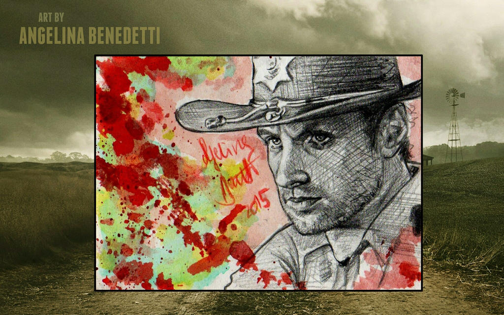 The Walking Dead- Rick Grimes Sketch Card by AngelinaBenedetti