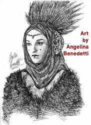 Queen Amidala Drawing Inks- Star Wars by AngelinaBenedetti