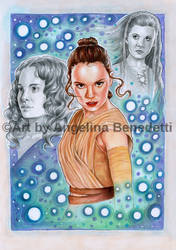 Rey- Poster by AngelinaBenedetti