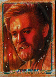 Obi- Wan Kenobi Sketch Card - THE IMMOLATION SCENE