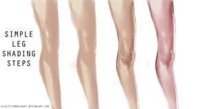 Simple leg shading tutorial by AshantiArt