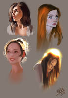 Portrait Study set by AshantiArt