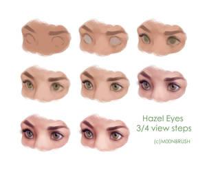 Hazel Eyes 3/4 by ArtofIndigo