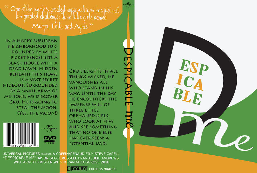 Despicable Me DVD Case by SparkleBat