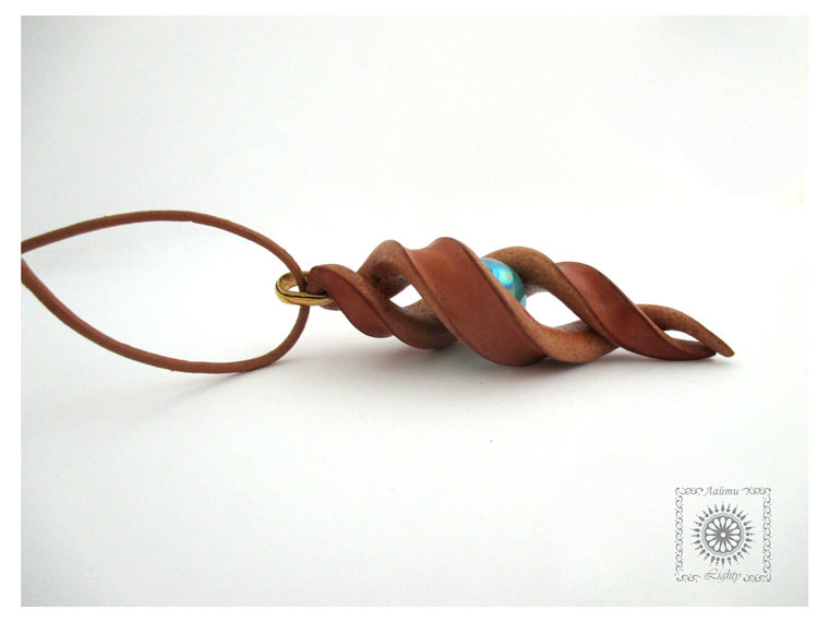 Leather necklace Spiral. by byLighty