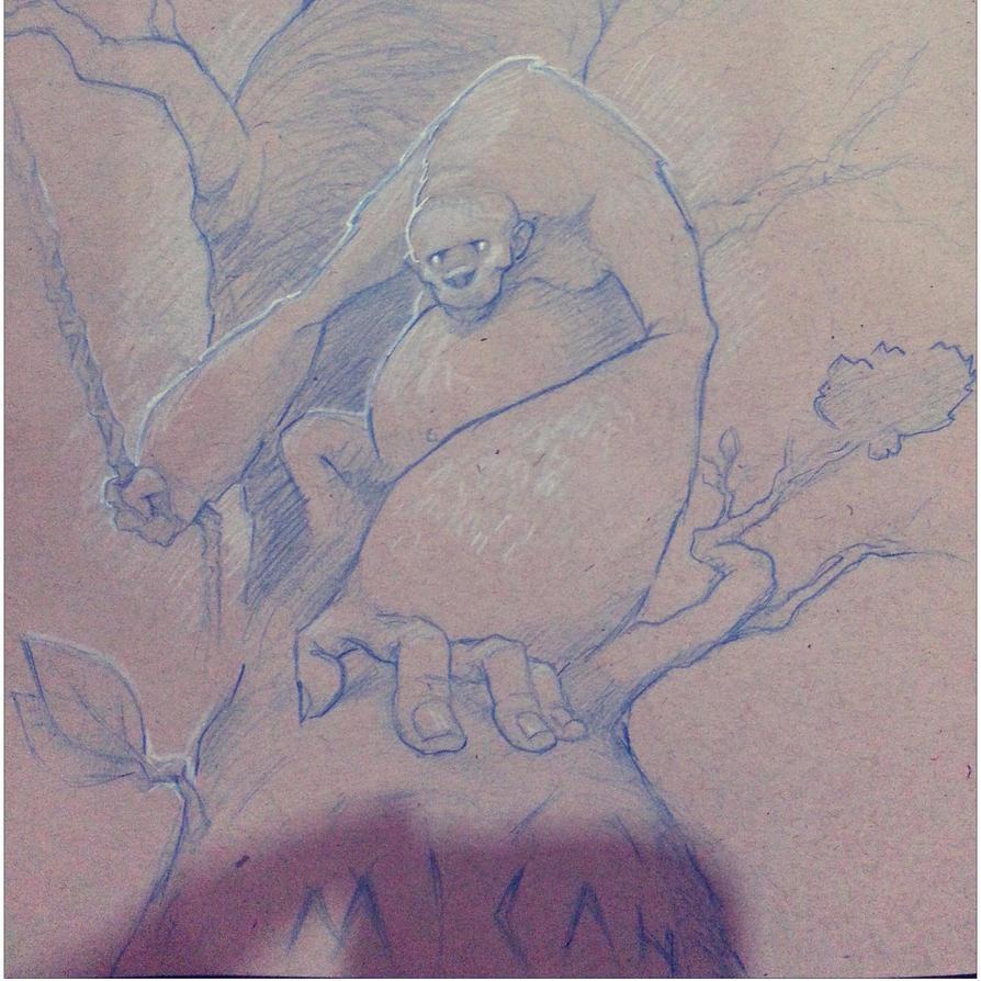 Blue Monkey by Scribblebot