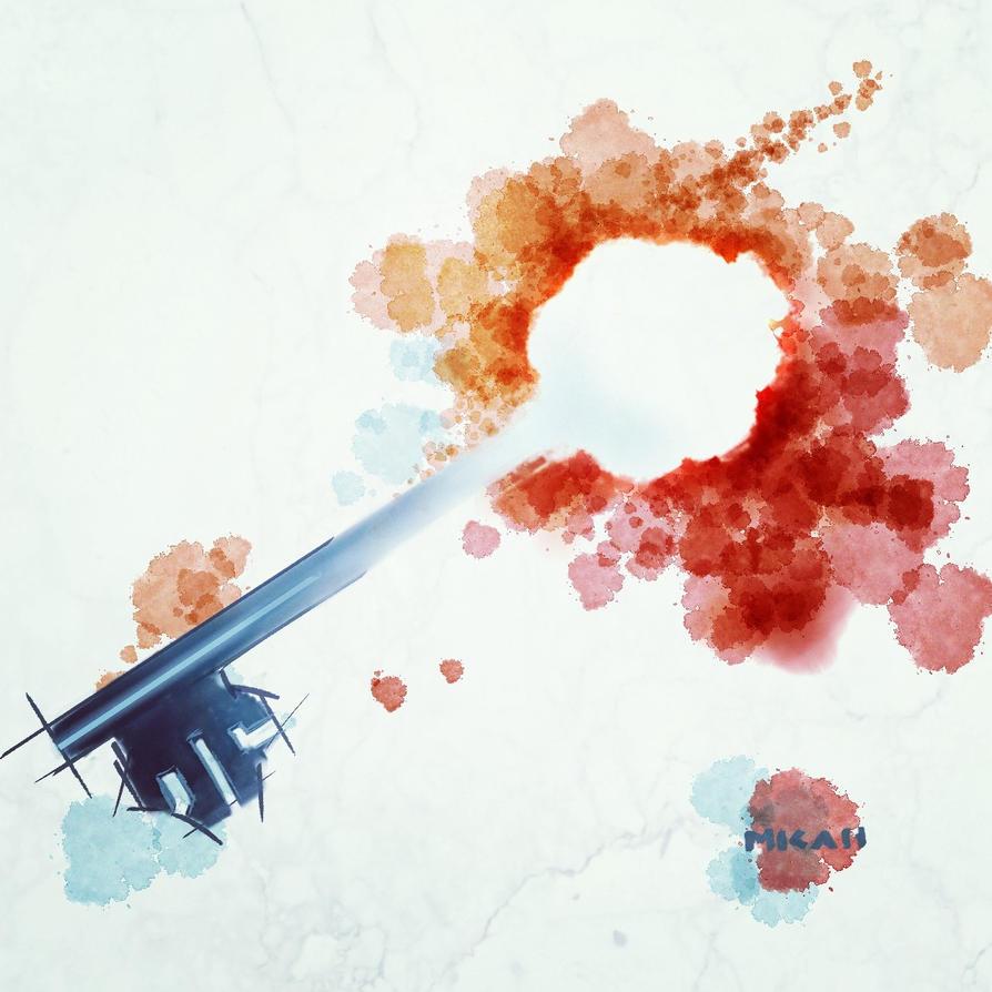 Digital Watercolor Key by Scribblebot