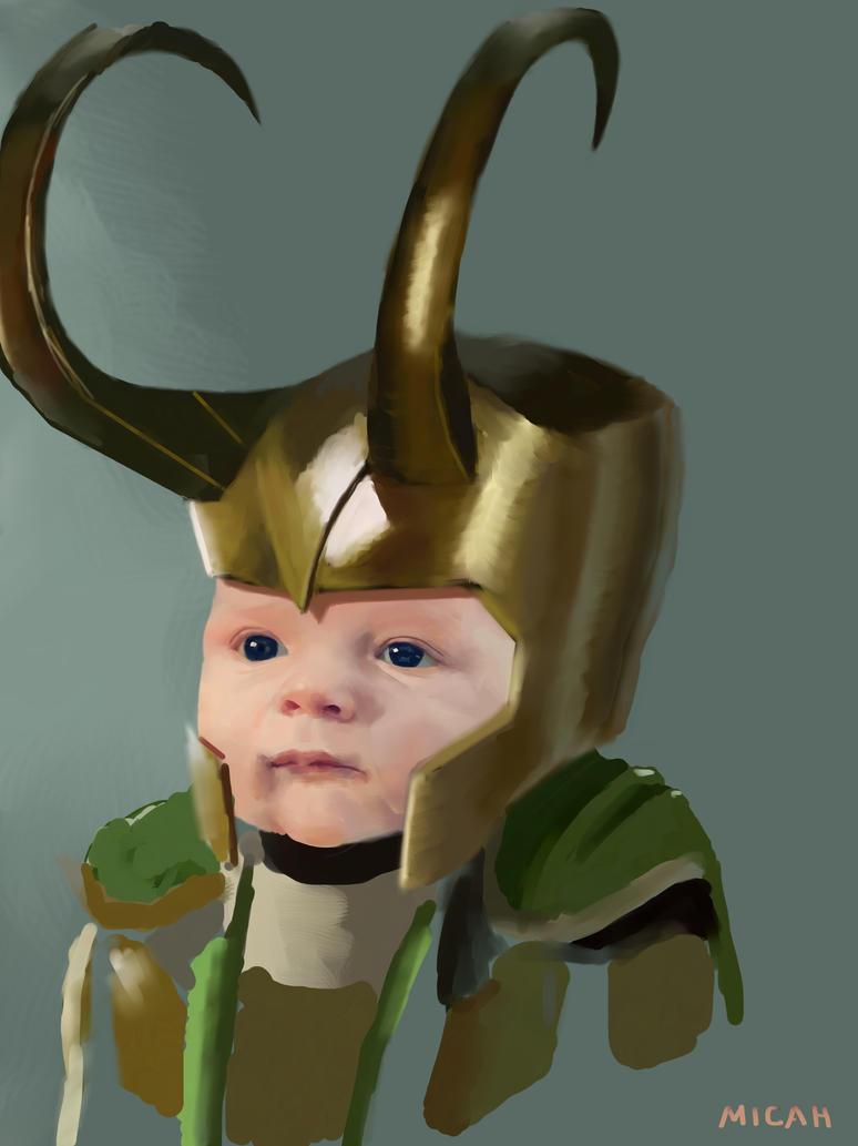 Nephew/ Loki Armor Unfinished Study by Scribblebot