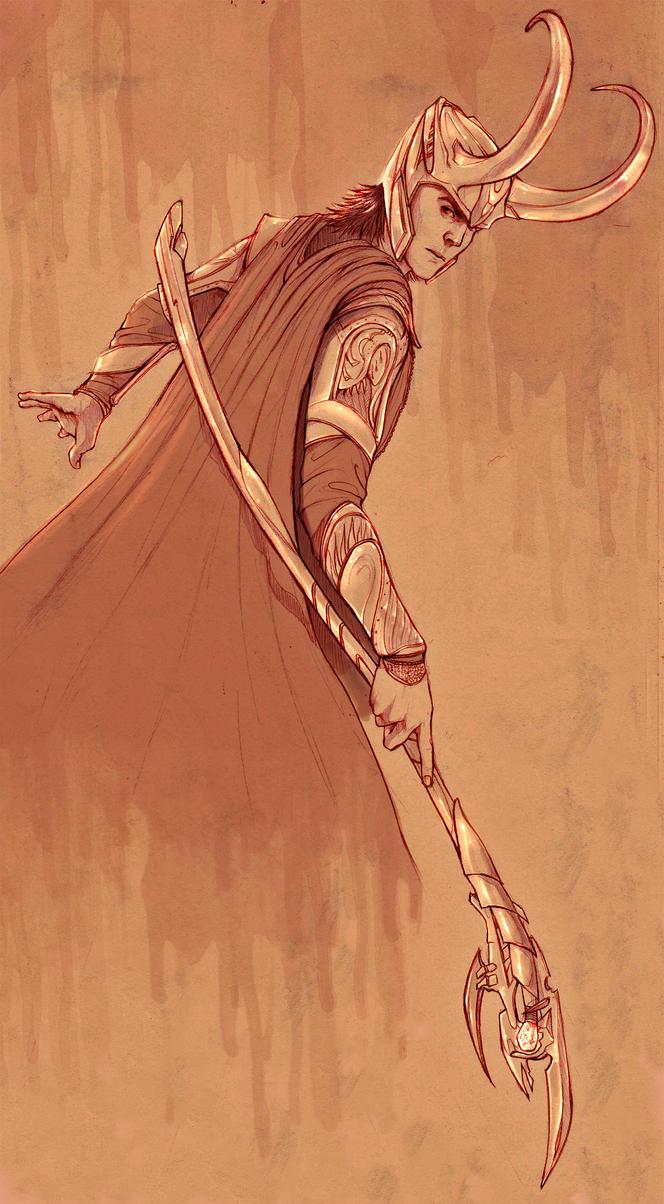 Loki Sketch by PencilWarrior
