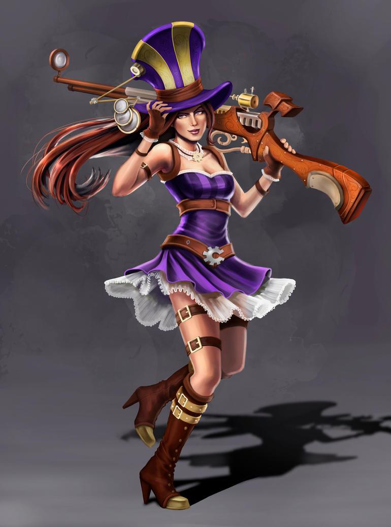League of Legends: Caitlyn by PencilWarrior on DeviantArt