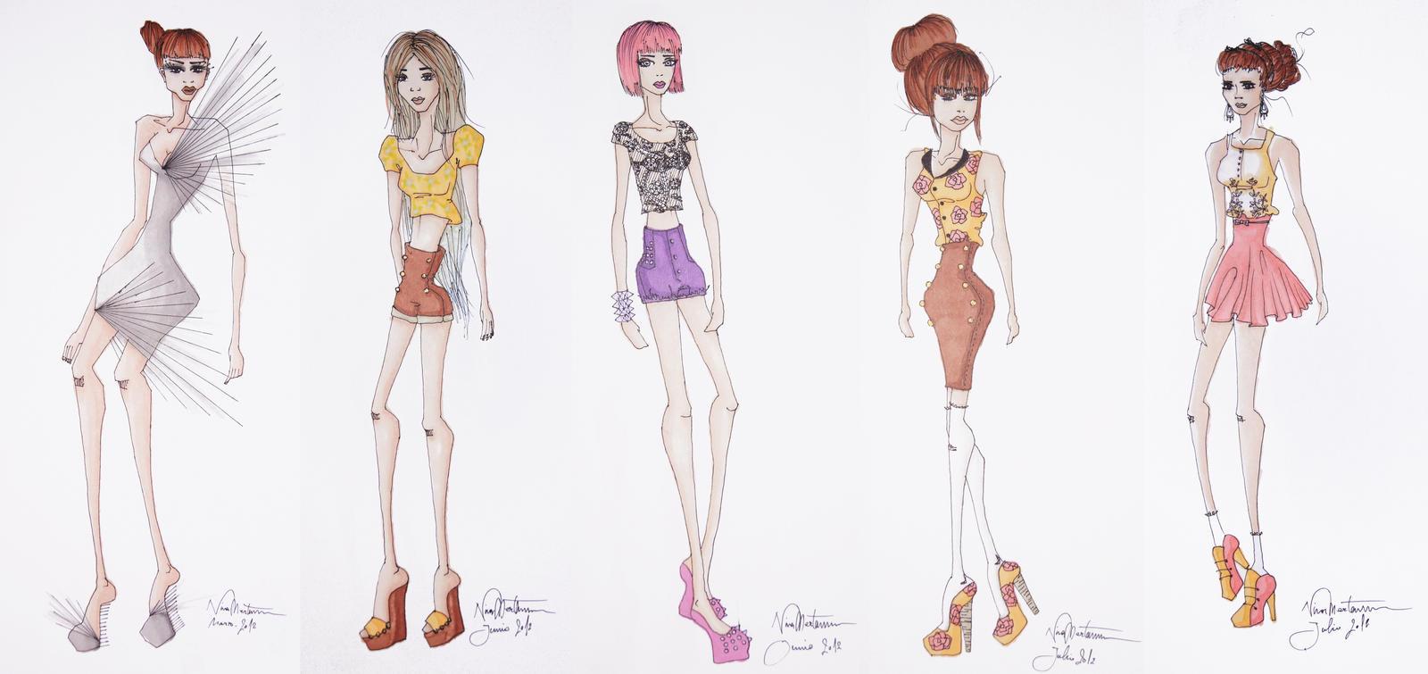 Fashion Sketches III by aninyosaloh