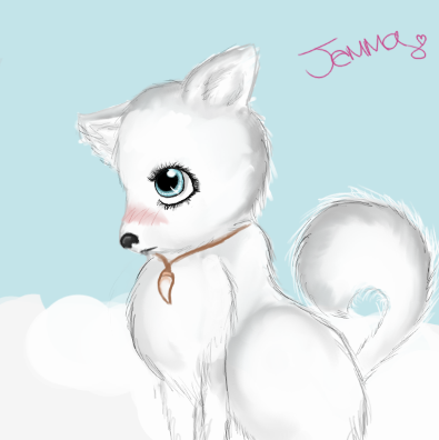 Anime me as an arctic wolf by Jemmanime on DeviantArt