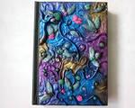 Polymer clay fantasy garden journal