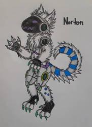 Norton the Protogen by Davalon4Ever
