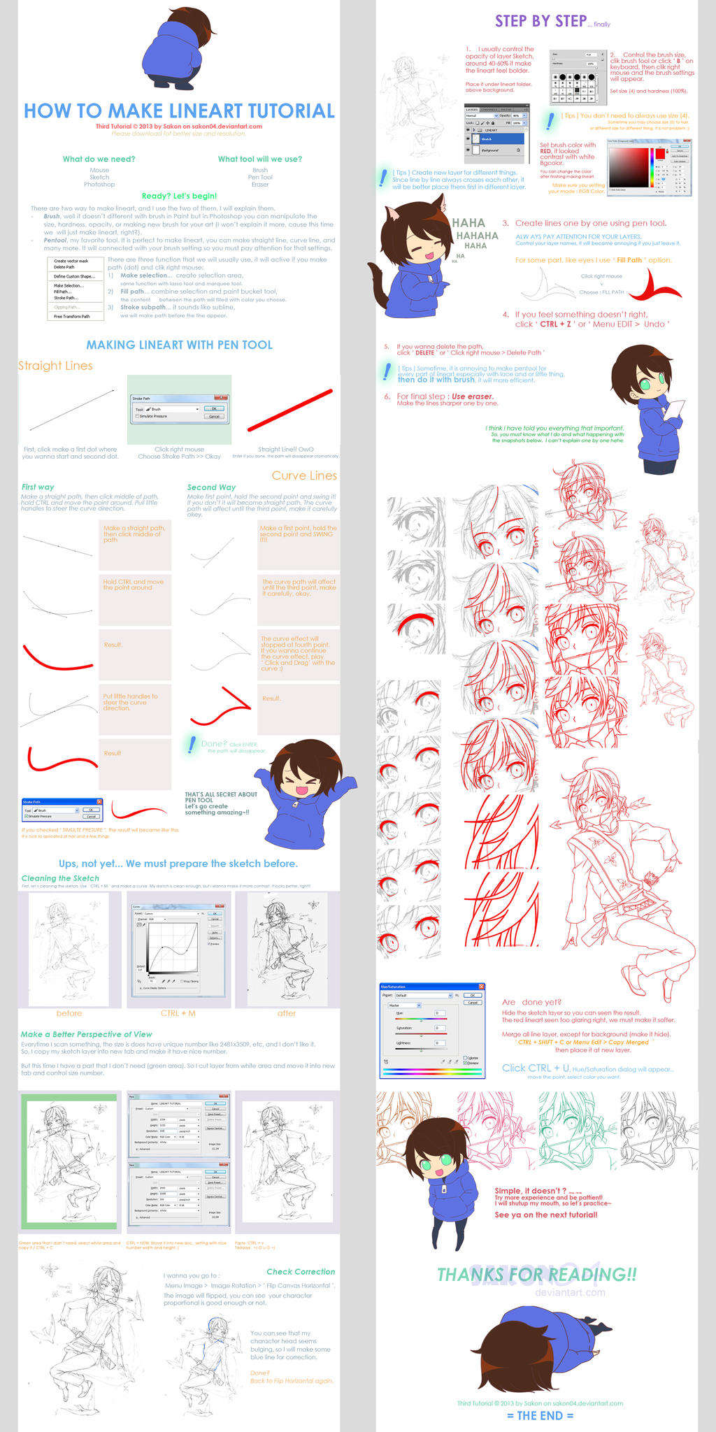 Lineart on drawing tutorials deviantart how to make lineart tutorial by sakon04 baditri Choice Image