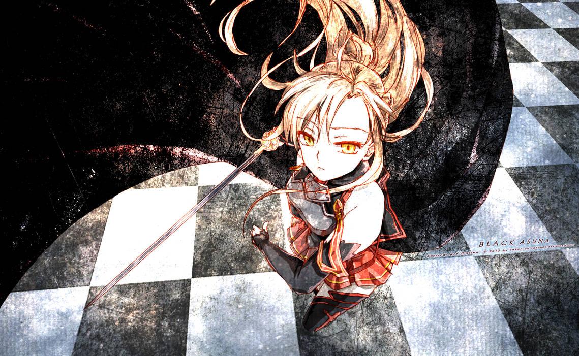 Black Swordswoman Asuna by Sakon04