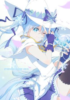 Eternal Snow Miku (+bonus psd)