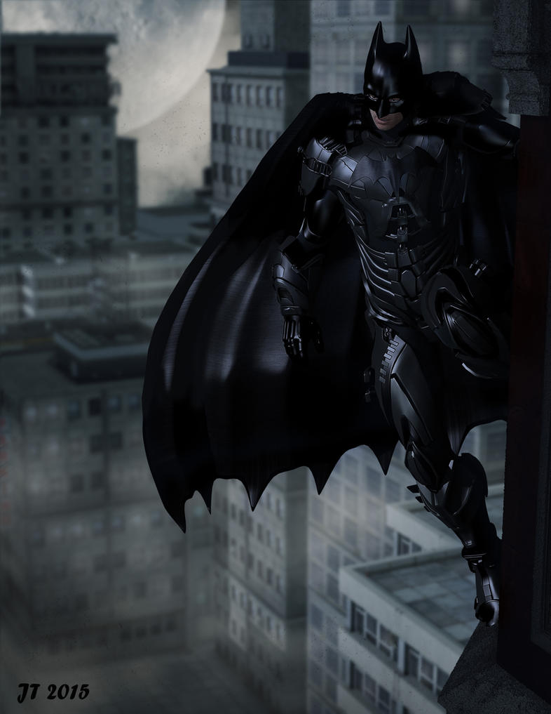 Batman Guarding His City by tiangtam