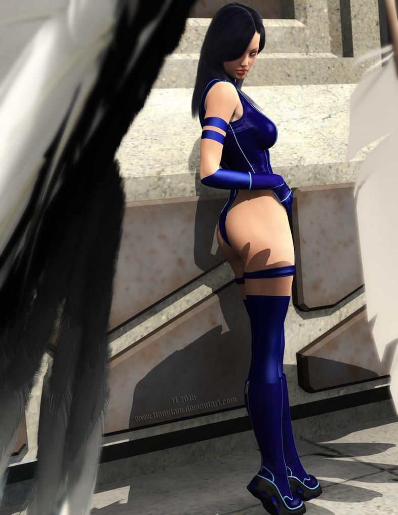 Psylocke Waiting by tiangtam