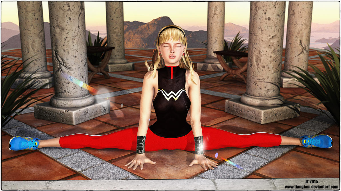 Wonder Girl Yoga by tiangtam