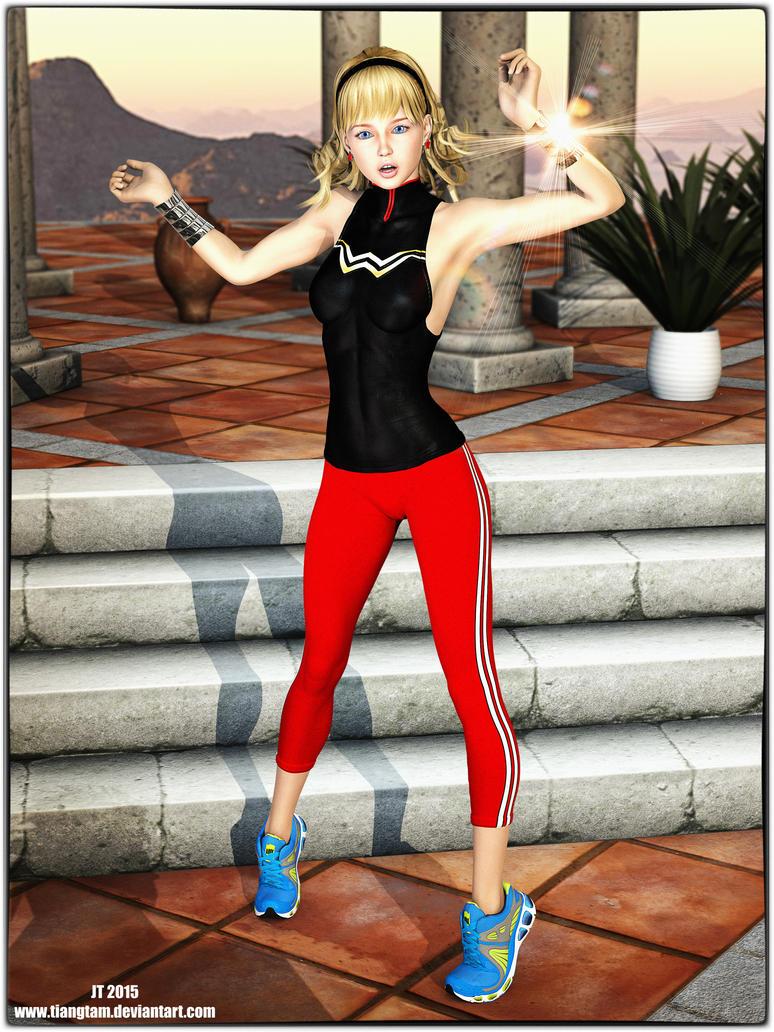 Wonder Girl Stretch by tiangtam