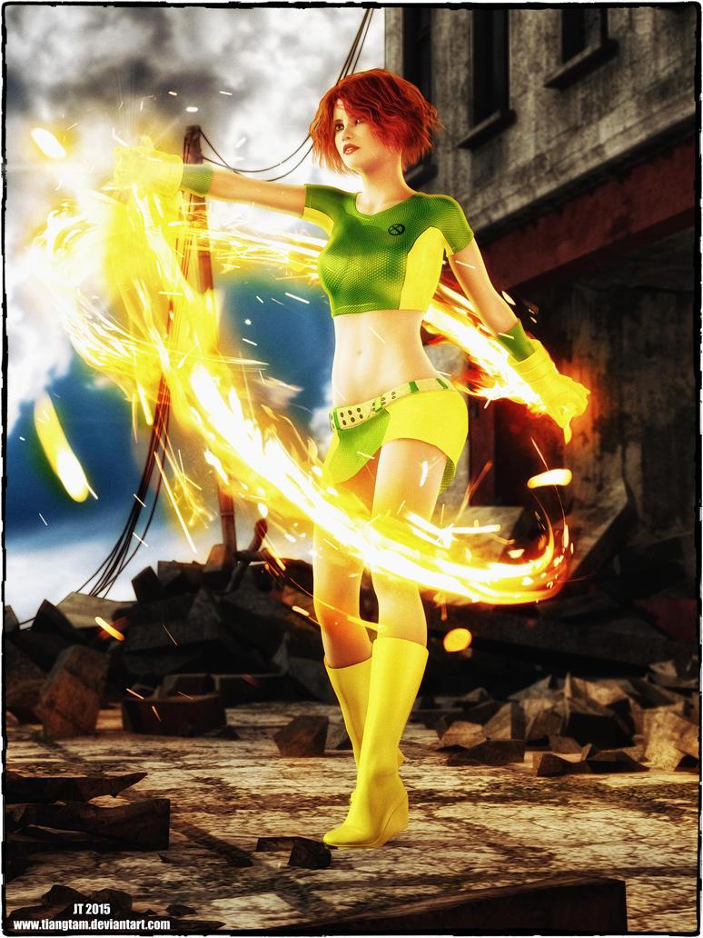 Marvel Girl (Rachel Summers) by tiangtam