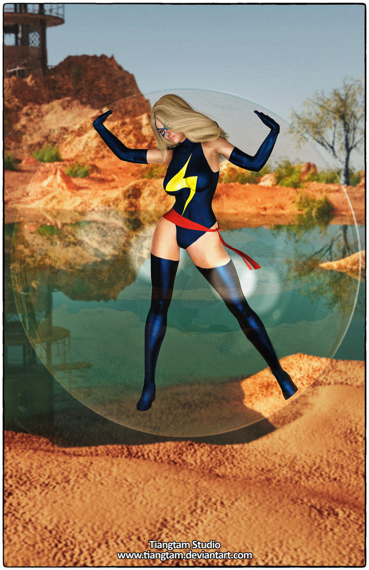 Ms Marvel Bubble Trouble by tiangtam