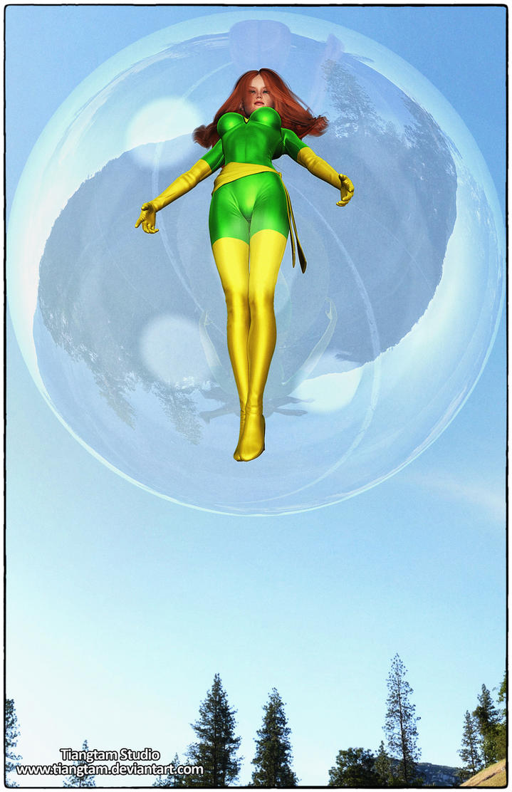 Jean Grey Bubble Trouble by tiangtam