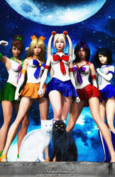 Sailor Scouts by tiangtam