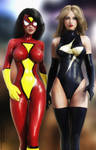 Spider Woman and Ms Marvel