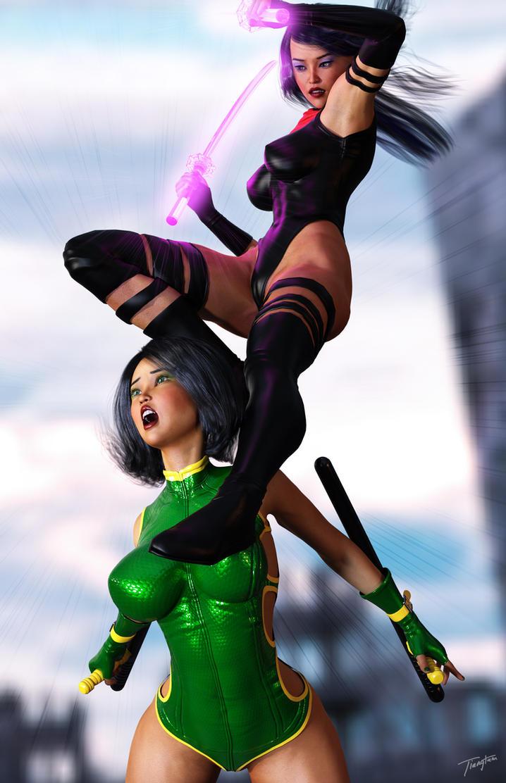 Psylocke Black Costume