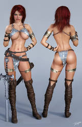 Character Reference Red Sonja by tiangtam