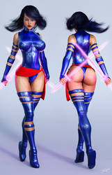 Character Reference Psylocke V2 by tiangtam