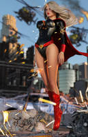 Evil Supergirl Wake of Destruction by tiangtam