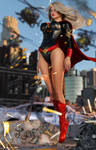 Evil Supergirl Wake of Destruction