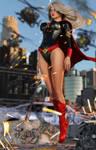 Evil Supergirl Wake of Destruction