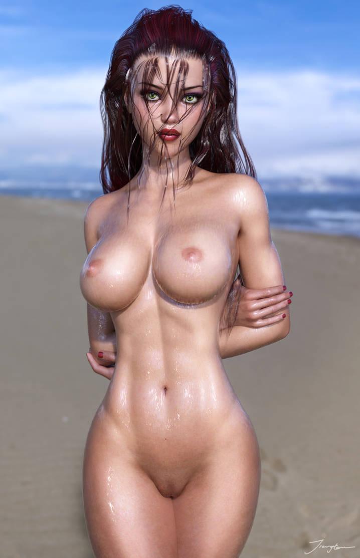 Wet Skin test 3 by tiangtam