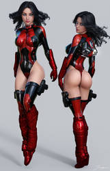 Character Reference Red Angel by tiangtam