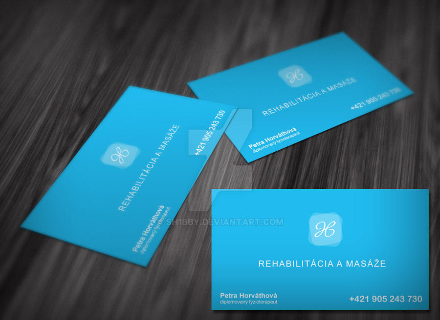 Business Cards For Physiotherapist By Sh1bby