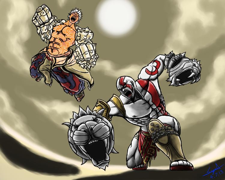 VERSUS: Asura vs Kratos by cyril002