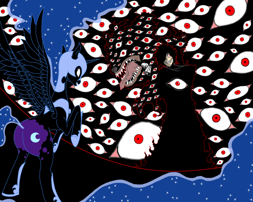Request VERSUS: Nightmare Moon vs Alucard by cyril002