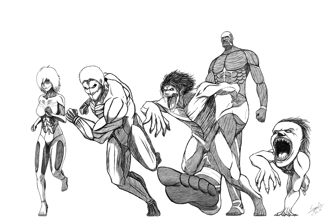Titans (Uncoloured) by cyril002
