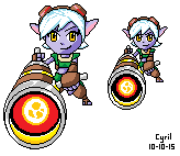 Tristana Large and small version by cyril002