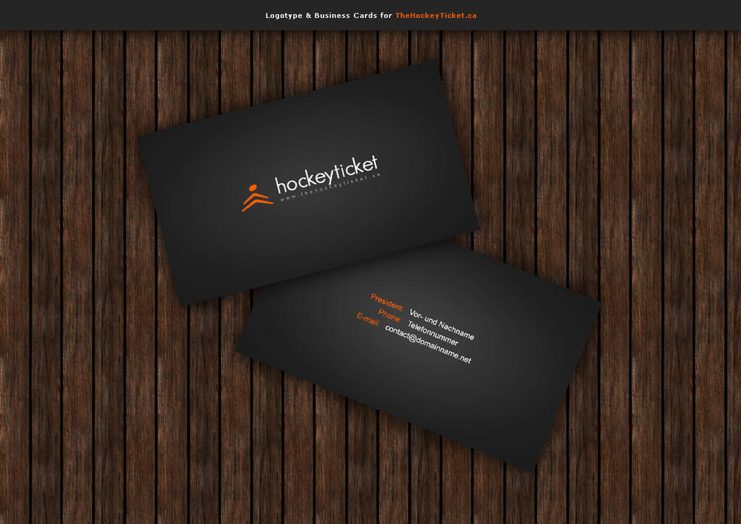 Logotype Business Cards By Blind91