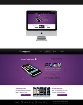 webshop layout - for sale