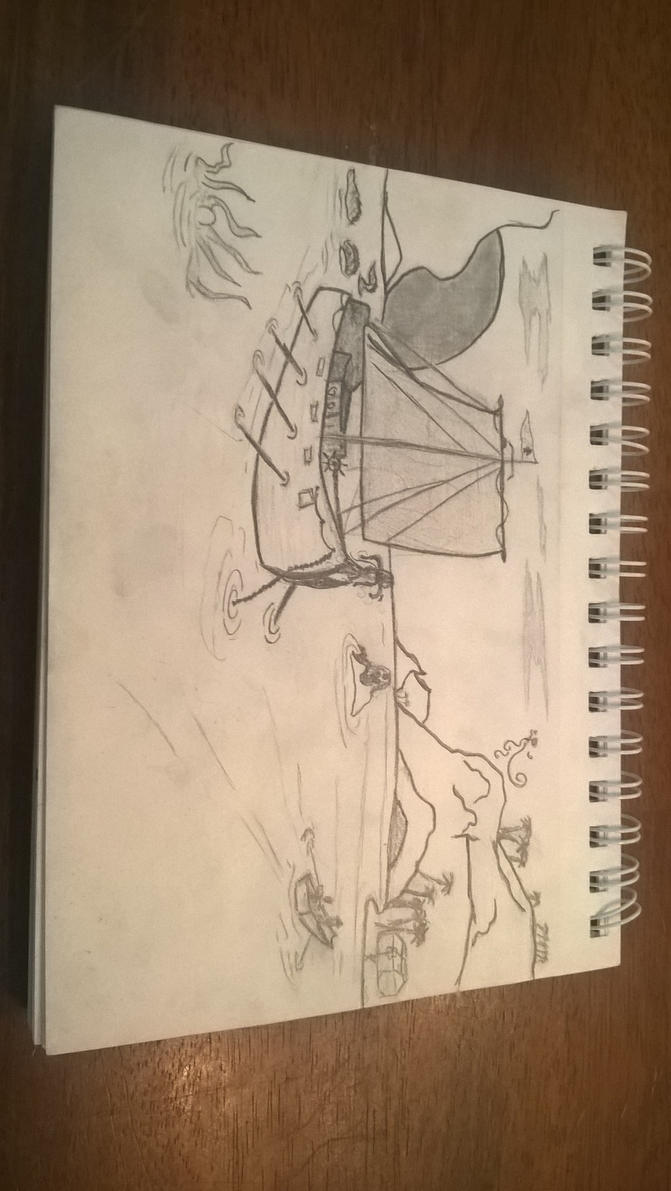 neverland (drawing with my dad :) ) by phanis-so-onfire