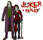 Joker and Harley (The Dark Knight) by irishfist123