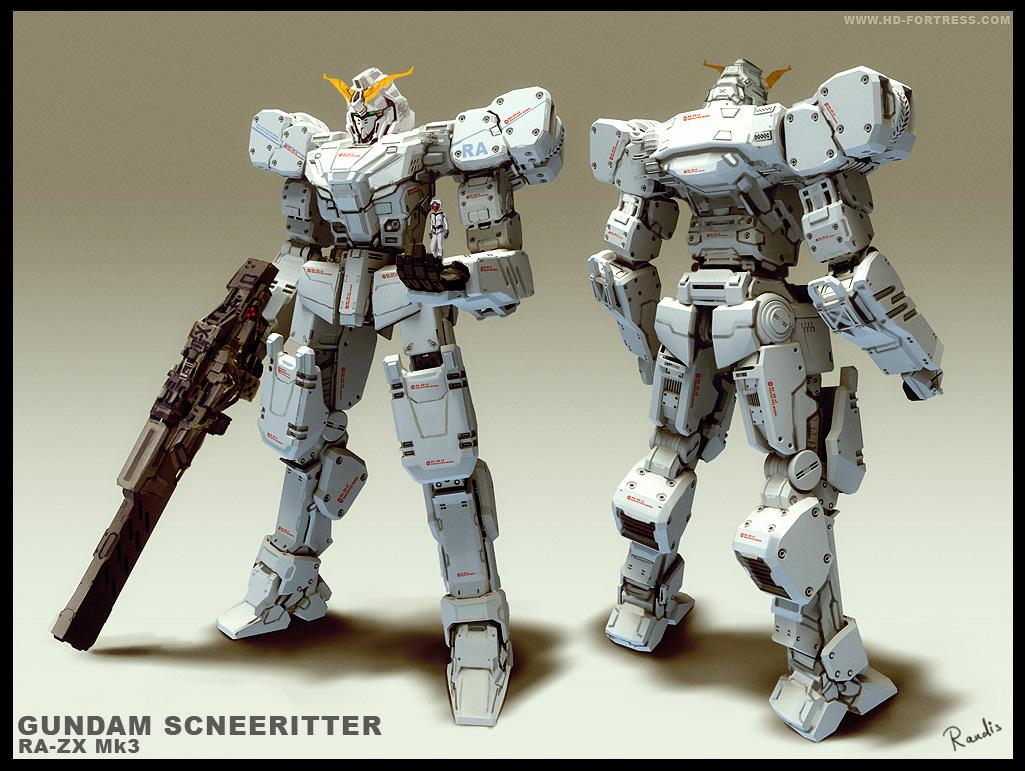 GUNDAM- Schneeritter RA-ZX Mk3 by randis